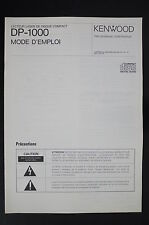 KENWOOD dp-1000 ORIGINALE LETTORE CD manuale d'uso/operating instruction