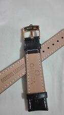 cinturino in vera pelle nera, marcato Omega swiss made ansa 18mm fibbia gold