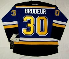 MARTIN BRODEUR - ST. LOUIS BLUES - size Large - Reebok Premier NHL hockey jersey