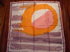 Vera silk scarf – pink, orange, cream abstract