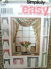 1994 Simplicity Easy Pattern #9105 DESIGN YOUR OWN WINDOW TREATMENTS Uncut