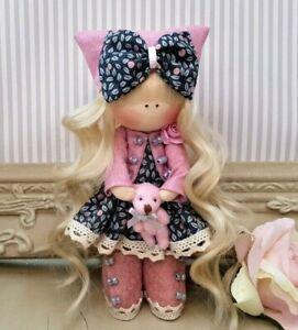 Rag doll Handmade in the UK Liberty print fabric Tilda doll DANIELLE 6 inch tall