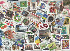 LATVIA USED COMMEMORATIVE STAMPS with PAPER KILOWARE 1000 pieces