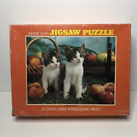 VTG SEALED Whitman Junior Guild Jigsaw Puzzle Bright Eyed Kittens Cats 63 Pieces
