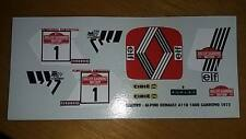 Decal Renault Alpine a110 rally sanremo 1973 therier 1/43