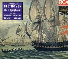 BEETHOVEN The 9 Symphonies (Leinsdorf Boston Symphony) BOX 5 CD RCA Ottimo