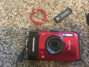 Olympus Tough TG-2 iHS 12.0MP Digital Camera - Red Shockproof Waterproof