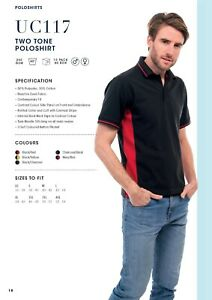 Embroidered Two-Tone Workwear Poloshirt. FREE EMBROIDERED LOGO. NO SETUP CHARGE!