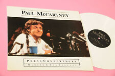 "PAUL MCCARTNEY 12"" PRESS CONFERENCES MADRID LOS ANGELES NM VINLE BIANCO !!!!!!!!"