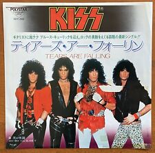 "Kiss ‎– Tears Are Falling / Anyway You Slice It Japan Promo 7"" Vinyl D07R-2003"