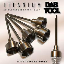 Heavy Duty GR2 Titanium Dabbing Dab Tool w/ Carburetor Cap High Quality for Nail