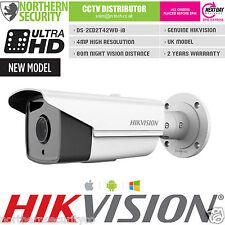 Hikvision 12mm 4MP 2MP ONVIF WDR 80m Exir IR POE IP Balle Sécurité Caméra de