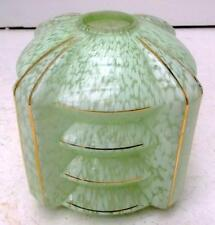 Stylish French Art Deco Mottled & Gilded Glass Lampshade !