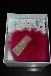 Michael Kors Fur Pink Love Charm Keychain NEW