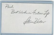 STEVE DILLON INDEX CARD SIGNED 1963-64 NEW YORK METS PSA/DNA CERTIFIED