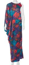 Lanvin Floral Print Print Full-Length Silk Dress  SZ 38 = Fits US S - M - NWOT