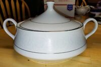 Vintage Southwicke White Lace China Serving Bowl w/ Lid Exc Cond. Made In Japan