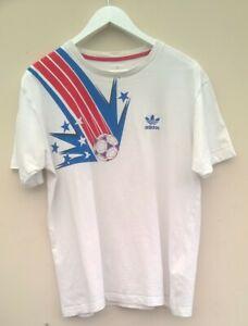 Ultra Rare Vintage world cup Adidas T Shirt trefoil tango football print large