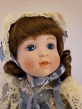 "Vintage 1989 Seymour Mann Connoisseur Victoria 15"" Porcelain Doll w/ COA NIB"