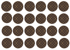 24x DESIGNER LOGO'S edible Cup Cake Toppers ICING sheet birthday cake party