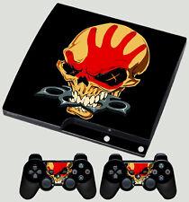 PLAYSTATION PS3 SLIM STICKER FIVE FINGER DEATH PUNCH 5FDP LOGO SKIN & PAD SKINS