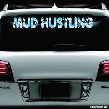 4WD Mud Hustling Snow Camo Windshield Sticker Decal Vinyl Windscreen #AWTOP014LS
