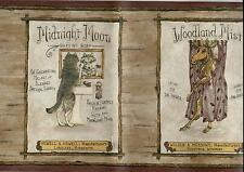 COUNTRY LODGE LOOK-YUKON, MOOSE, BEAR, WOLF BATHROOM WALLPAPER BORDER