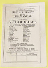 1928 Automobile Ensurance Rate Brochure Nice SEE!