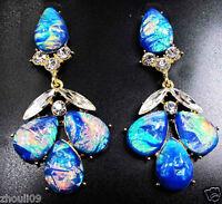 HOT Design Lady Bib Statement crystal charms long earrings fashion jewelry 6.5cm