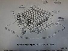 Harris Comunications Rf Military Hmmwv Radio Locking Pad Lock Kit Rf 5211vsm New