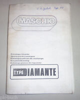Catalogo Ricambi / Parti Maschio Tipo Diamante Attaccamento Erpice