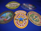 LOT of 5 OVAL Beer Coasters  BAR Mat barware brewery brew NEW! ANCHOR MALT RIVER