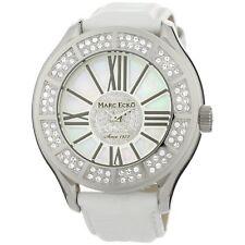 Marc Ecko Men's Tiani White Leather Strap Watch E15507G1