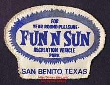 LMH PATCH Badge FUN N SUN RESORT Recreational Vehicle RV PARK San Benito TX used