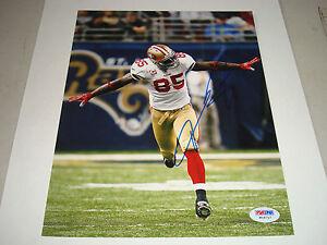 Vernon Davis Signed SF San Francisco 49ers 8x10 Photo PSA/DNA COA Autographed a