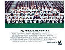 1989 PHILADELPHIA EAGLES TEAM 8X10  PHOTO  FOOTBALL NFL USA