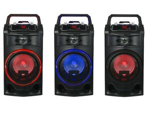 ALTAVOZ PORTATIL 25W ALTAVOCES BLUETOOTH USB RADIO FM KARAOKE BATERIA RECARGABLE