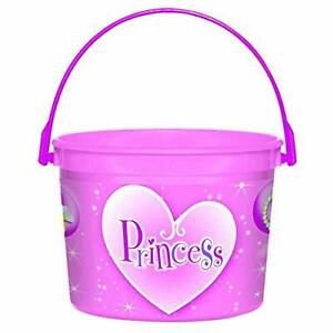 Sparkling Princess Pink Fancy Kids Birthday Party Favor Plastic Bucket Container