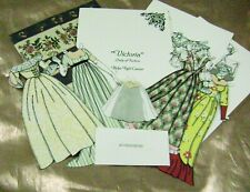 Vtg Paper Dolls Date? Victoria Hand Made Barbara Barnett Jones Sister Rare
