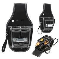 9 In1 Electricians Waist Pocket Tool Belt Pouch Bag Screwdriver Carry Case Black