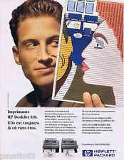 PUBLICITE ADVERTISING 095 1993 Hewlett Packard imprimante Deskjet 310