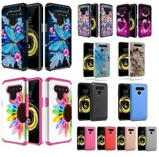 Lg V50 Thin Q Hybrid Hard Case Shockproof Silicone Armor Cell Phone Case Cover