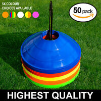 50Pcs Plastic Marker Cones Space Markers Disc Football Rugby Training Fitness LL