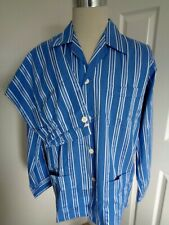 BNWT Derek Rose Pyjamas Blue White Stripe Cotton Blend Pyjama Set size M
