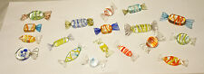 Vintage Lot of 18 Murano Hand Blown Glass Christmas Candy Italy