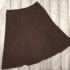Requirements Women's  Skirt, size 12,  Brown Flare  Polyester, Spandex