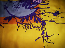 "GORGEOUS SIGNED Bjorn Wiinblad EARLY PIECE SILK  31"" SQUARE POSTER SCARF"