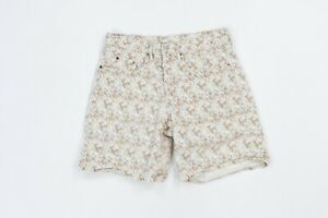 Vtg 90s Guess USA Womens 3 All Over Floral Print Button Fly Denim Jean Shorts