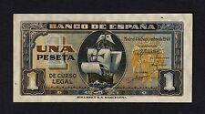 F.C. 1 PESETA SEPTIEMBRE 1940 , SIN SERIE , EBC , PICOS ABARQUILLADOS .