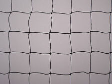 "40' x 8' Net Game Bird Poultry Pen Netting POLY 2"" BLACK SQUARE #4 POLYETHYLENE"